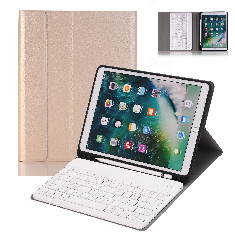 定番 NewKee PUレザーケース iPad Pro ゴールド-1 10.5 キーボードケース Pro ペンシルホルダー付き iPad Pro 10.5インチ(A1701/A1709) スマートスタンド PUレザーケース 取り外し可能なBluetoothキーボード 自動スリープ保護カバー付き US703931720A09B ゴールド-1 B07KZSVN39, 守山区:191de806 --- a0267596.xsph.ru