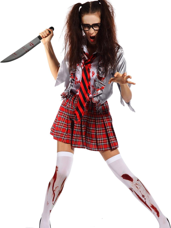 Maboobie - Disfraz de Zombie de Horror Cosplay Dress Cheerleader ...
