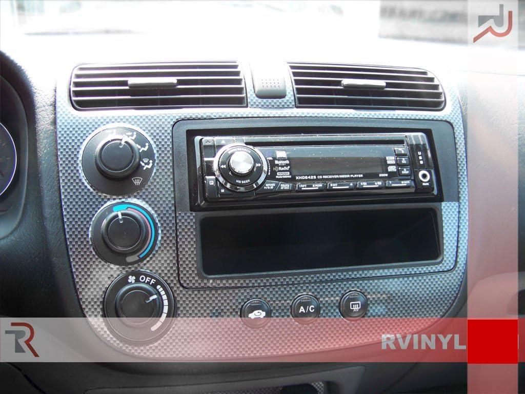 Rdash Dash Kit Decal Trim for Honda Civic 2001-2005 Red Carbon Fiber 3D