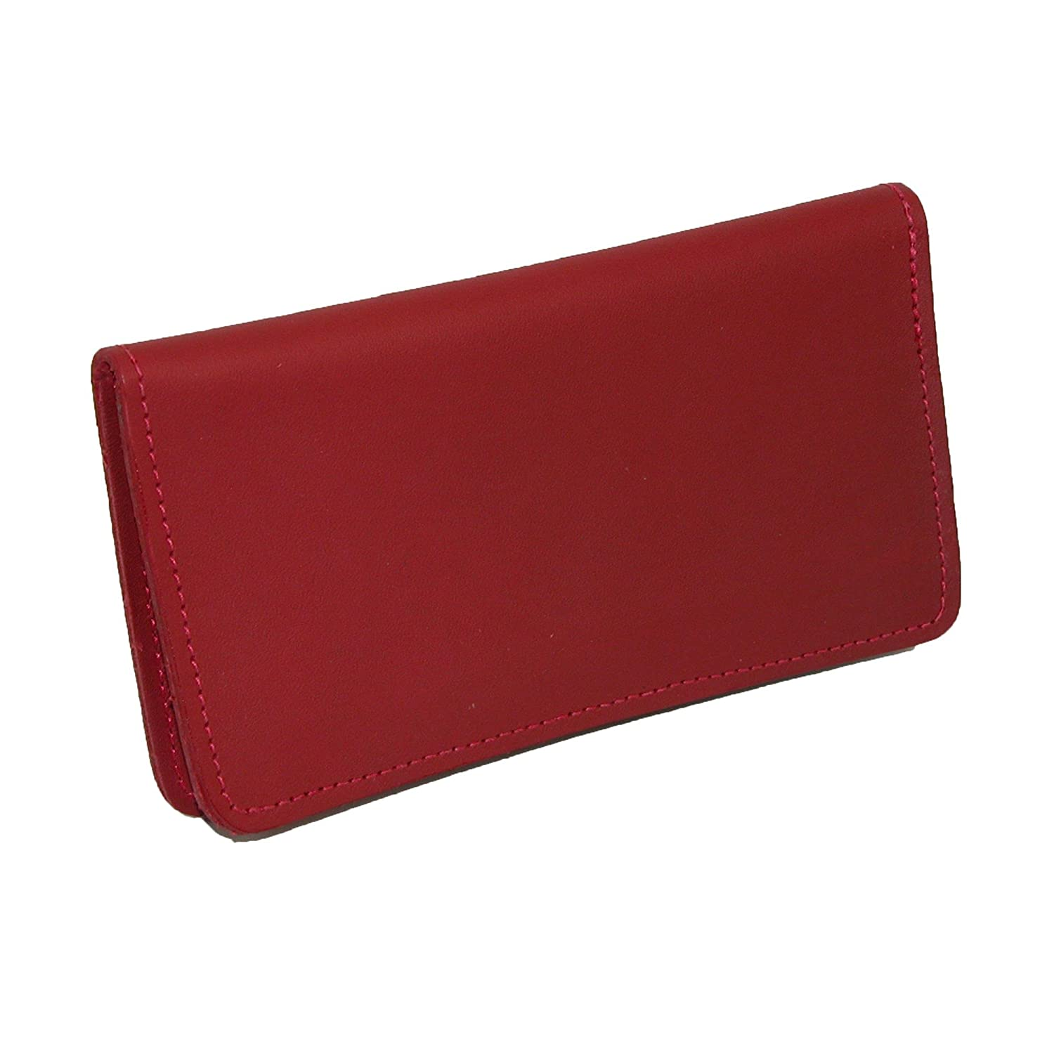 CTM® Leather Checkbook Cover, Red NS-130-RED