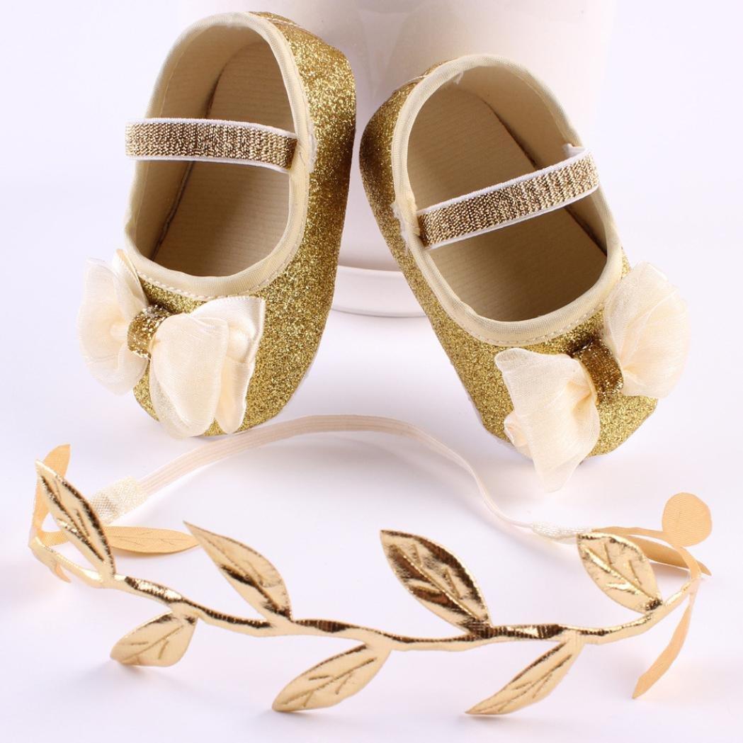 1 St/üCk Haarband Kleinkind Schuhe Blume Schuhe Sneaker Tanzschuhe Pailletten Rutschfeste Baby Shoes LuckyGirls 1 Paar Babyschuhe