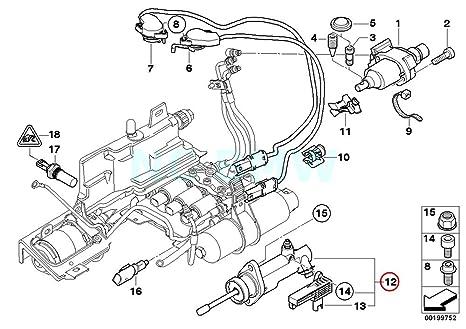 Original de BMW E60 E61 E63, E64 Coupe actuador de embrague con sensor OEM 23427507098