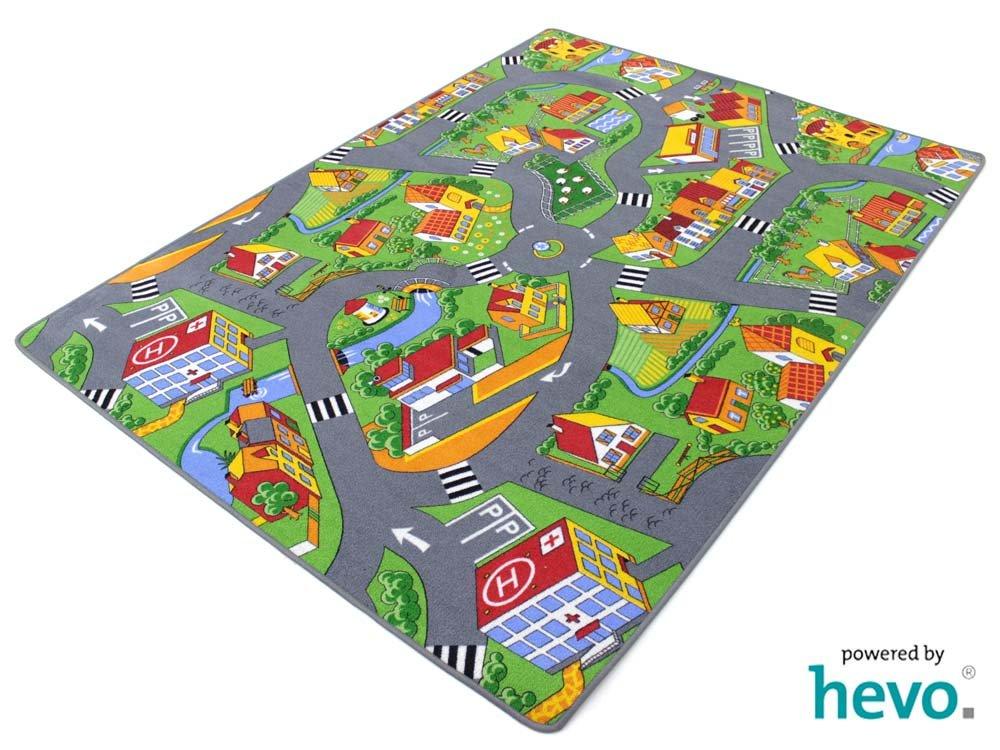 Stadt Land Fluss HEVO® Teppich   Kinderteppich   Spielteppich 200x200 cm