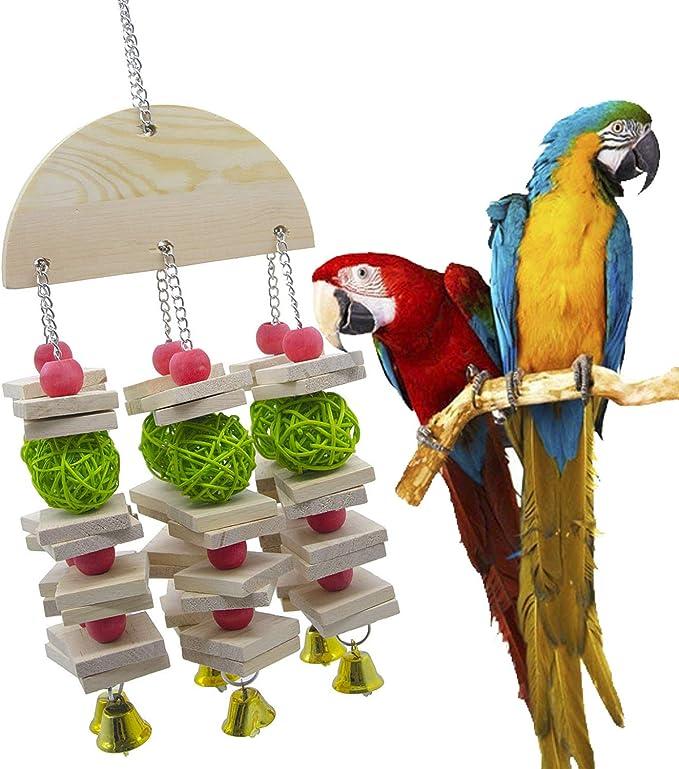 XDYFF Juguete del Pájaro Masticar Aves Escalera Columpio Jaula Juguetes para Masticar, adecuados para Loros pequeños y medianos y Aves: Amazon.es: Deportes y aire libre