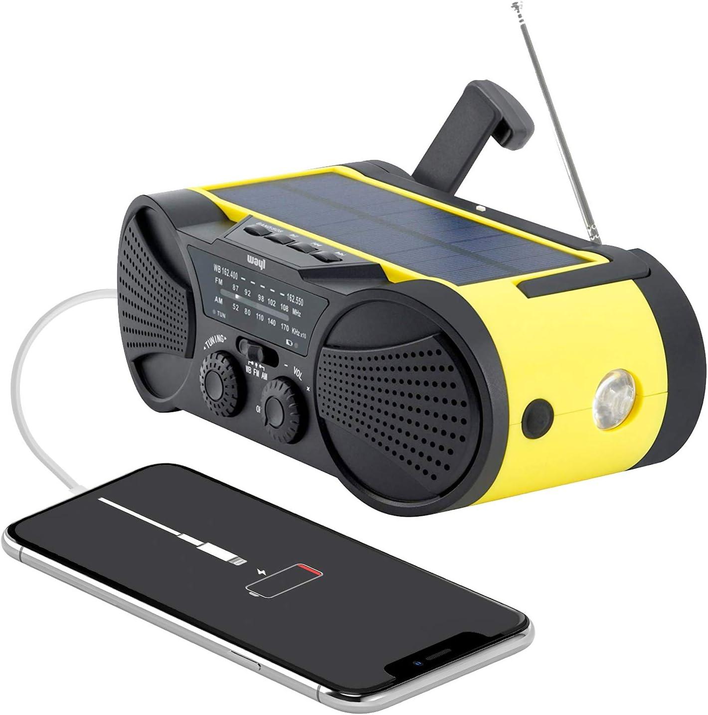 Emergency Weather Radio 4000mAh - Portable