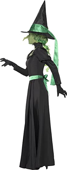 Smiffys - Disfraz de bruja para mujer, talla UK 12-14 (33134L ...