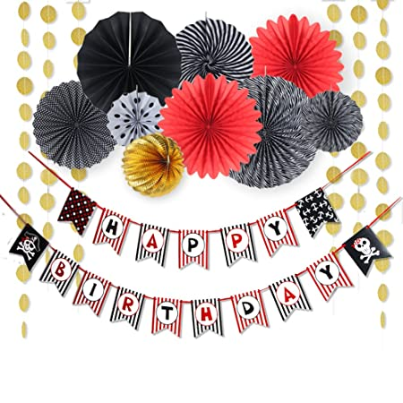 Pirata cumpleaños infantil Kit Decoration Happy Birthday ...