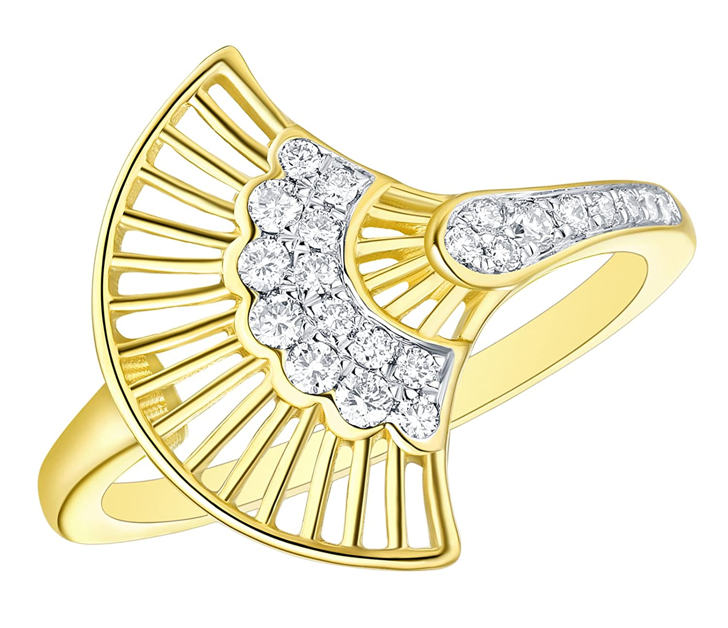 Prism Jewel 0.21 Carat Round G-H//I1 Natural Diamond Stylist Ring 10k Gold