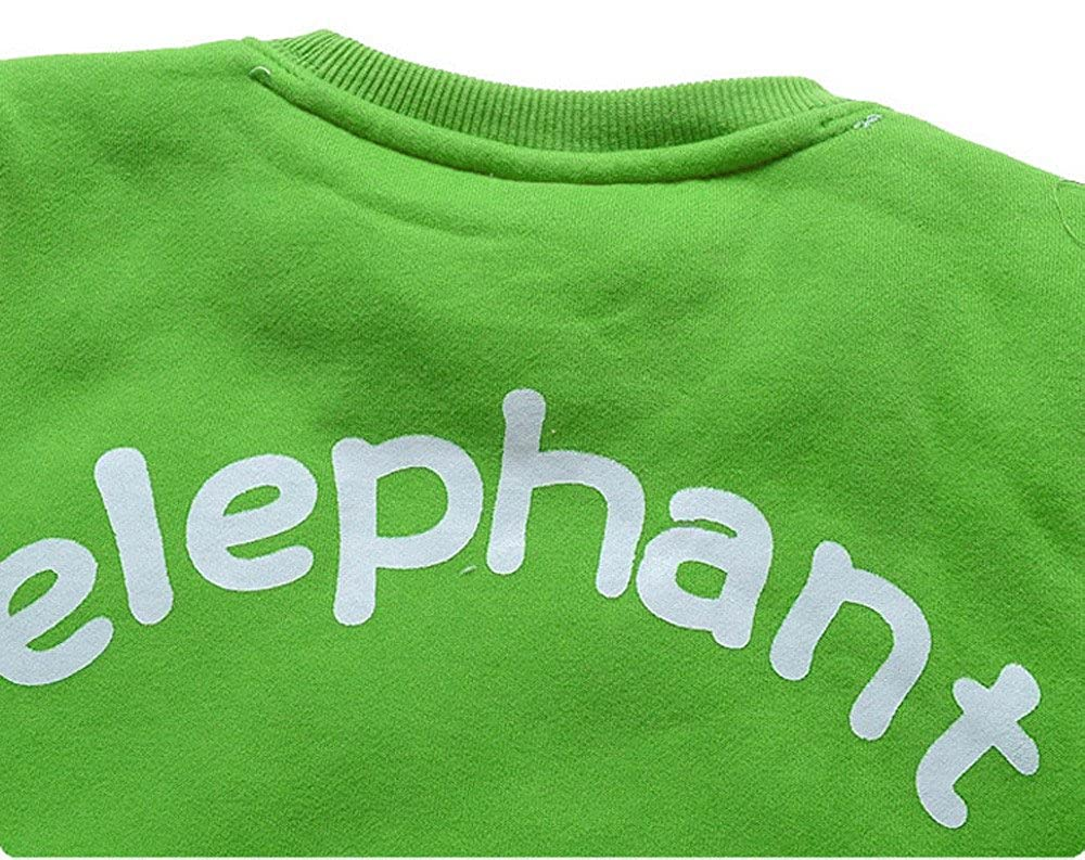 squarex    /® Toddler Kids Baby Girl Boy Clothes Elephant Blouse Tops Sweatshirt T Shirt