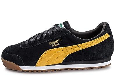 Puma Roma Gents Noire Et Jaune Noir 46 Chaussures puma