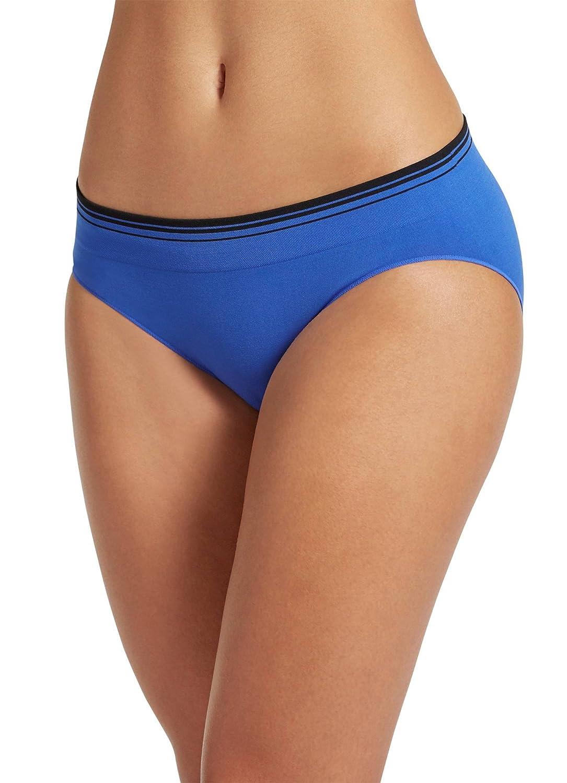 222656263b3 Jockey Women s Underwear Seamfree Sporties Stripe Bikini at Amazon Women s  Clothing store