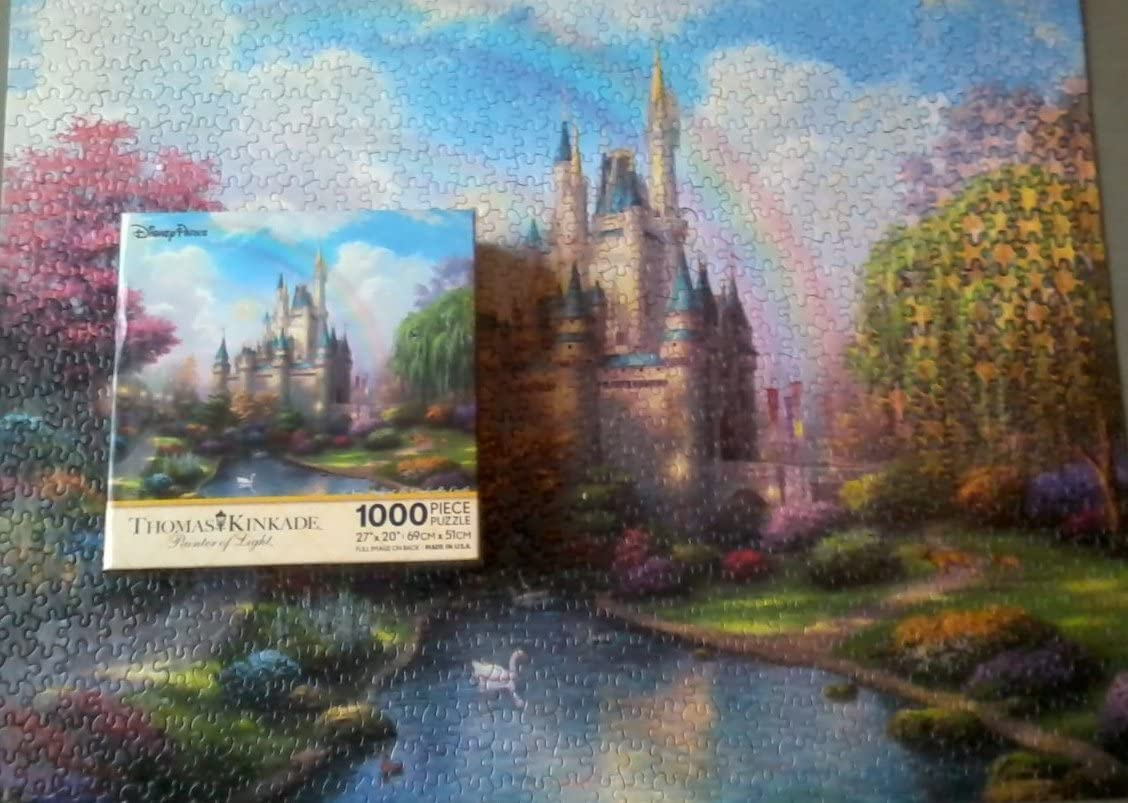 Disney Parks Kinkade A New Day At The Cinderella Castle 1000 Piece Puzzle