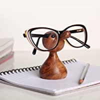 (Brown) - Handmade Wooden Eyeglass Spectacle Holder Display Stand Home Decorative