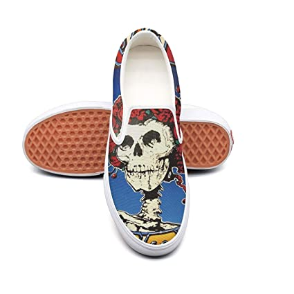 2d4e65e96f96e Amazon.com: Wudo Men's The-Famous-Grateful-Dead-Skull-and-Roses-Logo ...