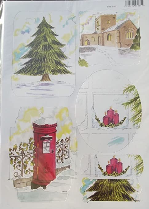 HOLLY /& POINSETTIA Craft UK Christmas Colour Your Own Die Cut Toppers # 2164