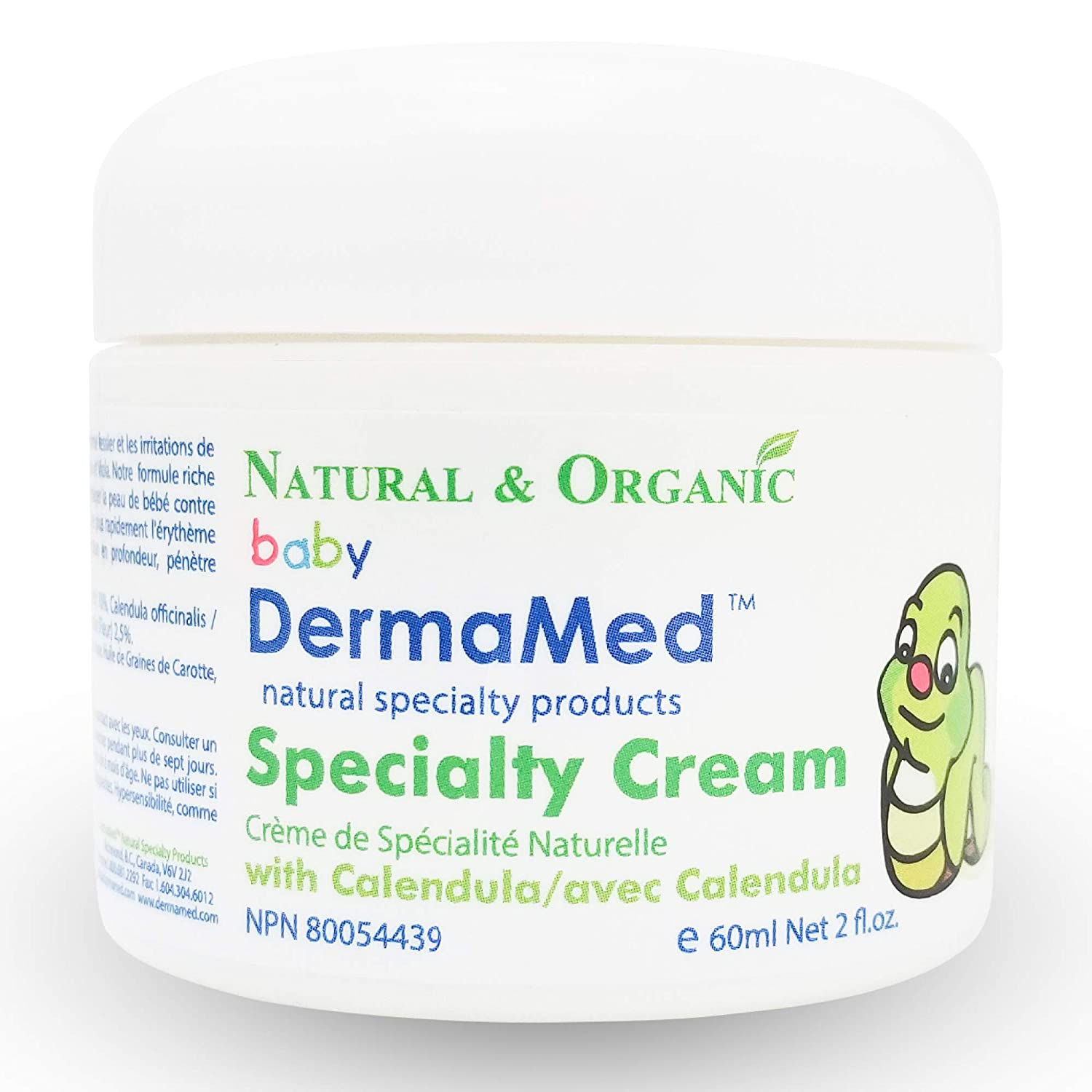 Best Organic Baby Cream DERMAMED Moisterizer Botanical Extracts, Diaper Rash Skin Irritations Vita Activate