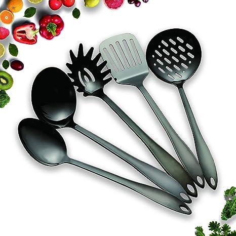 Amazon.com: HOMQUEN Juego de utensilios de cocina de acero ...