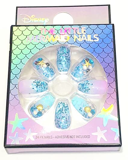 Primark Disney The Little Mermaid Nails Set de 24 piezas de sirena para palo – Nuevo