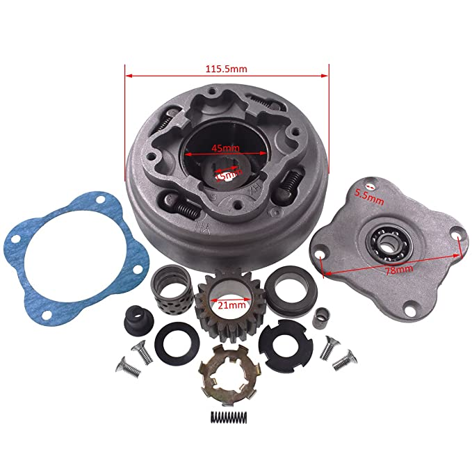 JRL Conjunto de embrague de 18 dientes bicicleta, automático, 70 cc, 90 cc, ATV DIRT: Amazon.es: Coche y moto