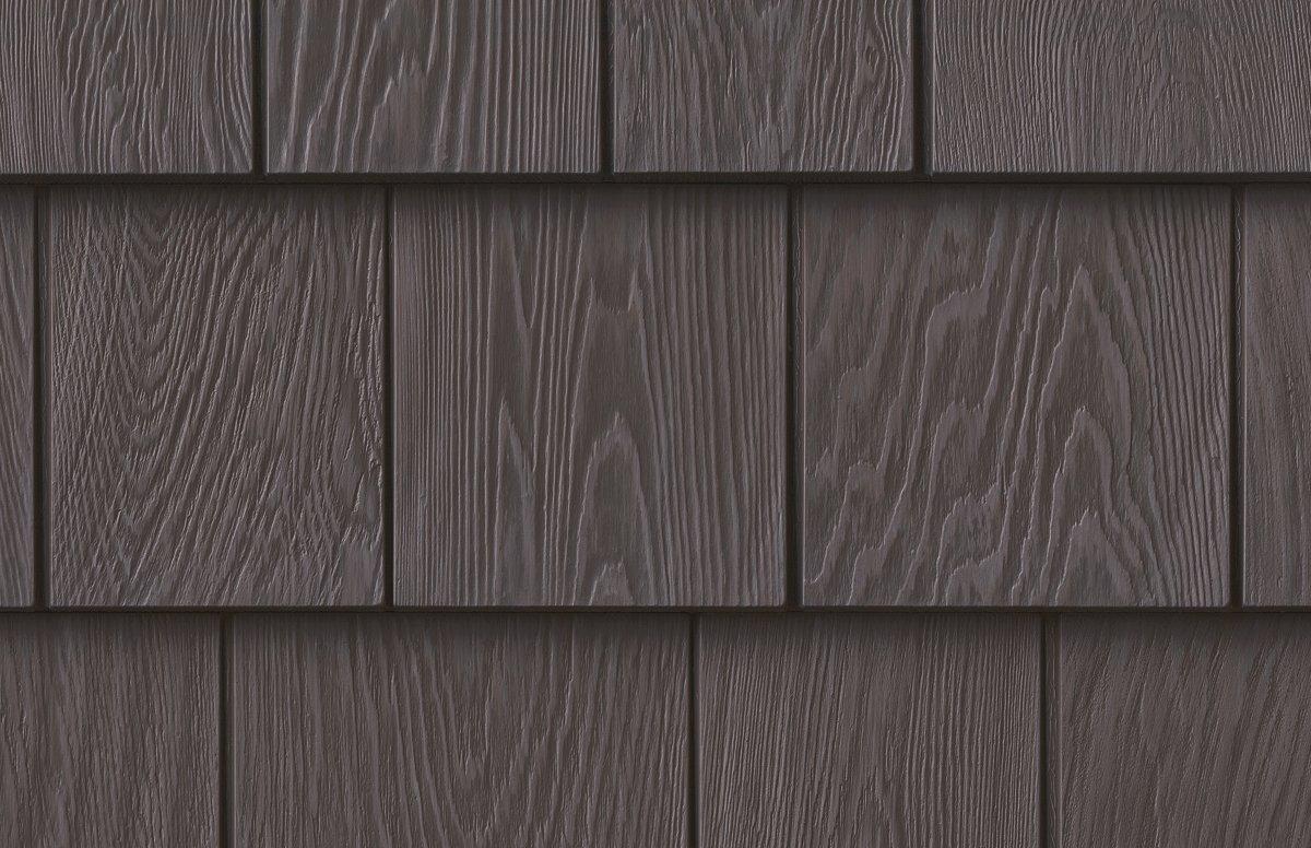 Grayne 7.5'' Red Cedar Shingle 451 Aged Grey Rigid PVC Shingle Panel