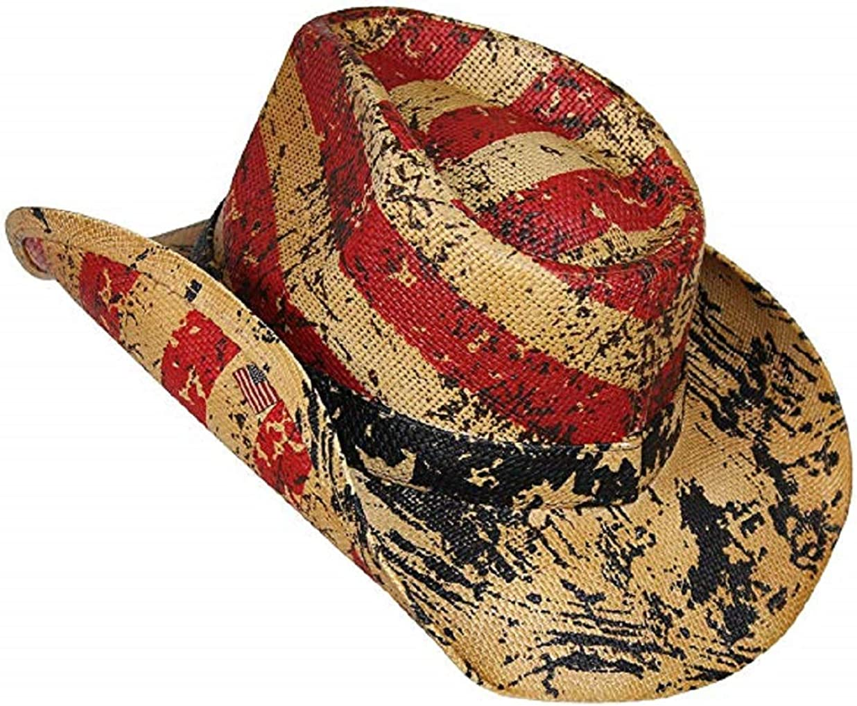 THAT HAT Straw Sun Cowboy Cowgirl Fashionista Vintage High Fashion Brown Ribbon Garden Cool Rattan Woven Cowboy Country Western