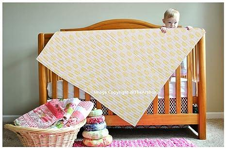 Manta de algodón para bebé recién nacido, diseño de hojas amarillas ...