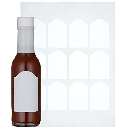 Quality Label Company Woozy Bottle Labels - 120 Blank Hot Sauce Labels,  Perfect Size For 5oz Bottles