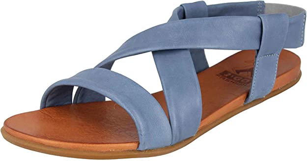 Mustang Shoes Sandales en Grande Taille Bleu 8003-802-88 grande Chaussures Femmes