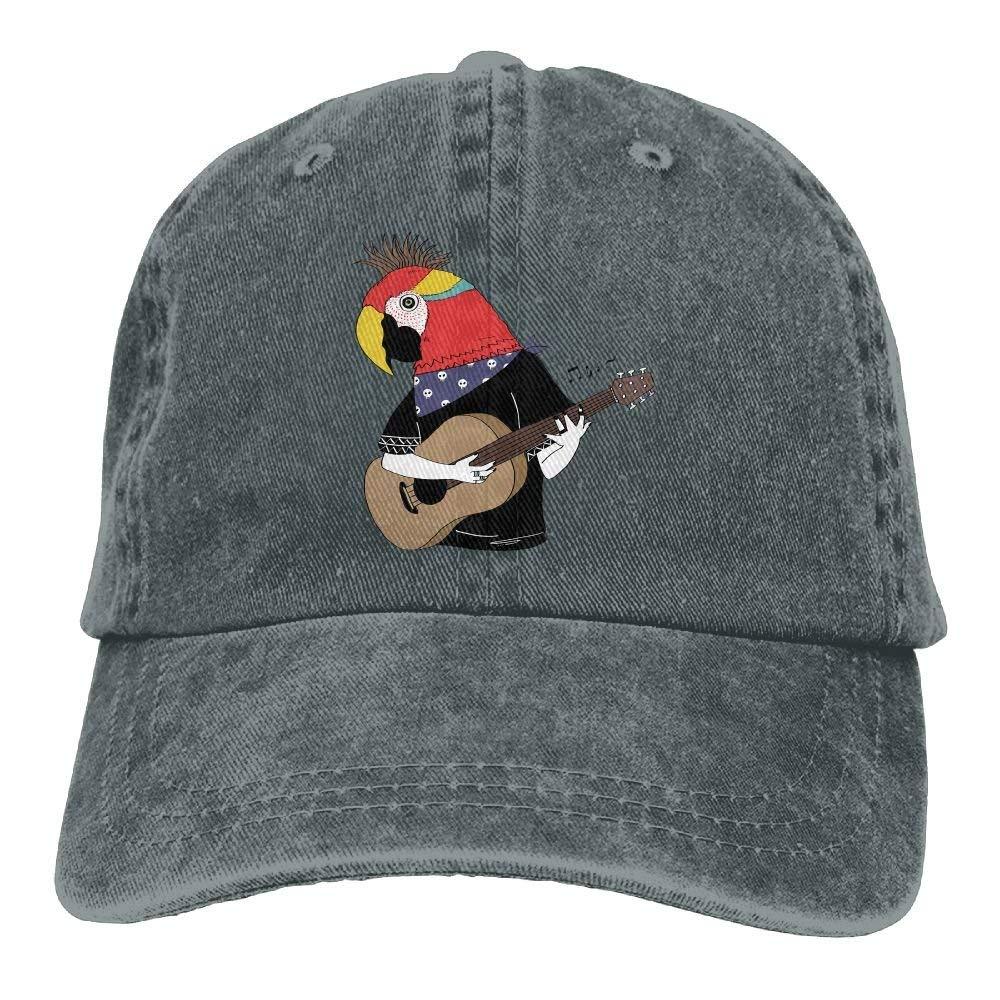 Huabuqi Parrot Bird está Tocando la Guitarra Gorras de béisbol ...