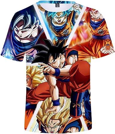 Camisetas Camiseta Estampada 3D para Hombre Unisex Dragon Ball Super: Broly Dragon Ball Manga Corta-Photo Color_150 (Ropa para Niños): Amazon.es: Ropa y accesorios