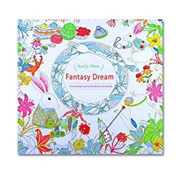 Fun Adult Coloring BookFantasy Dream Designs Stress Relief Book Mandalas Animals
