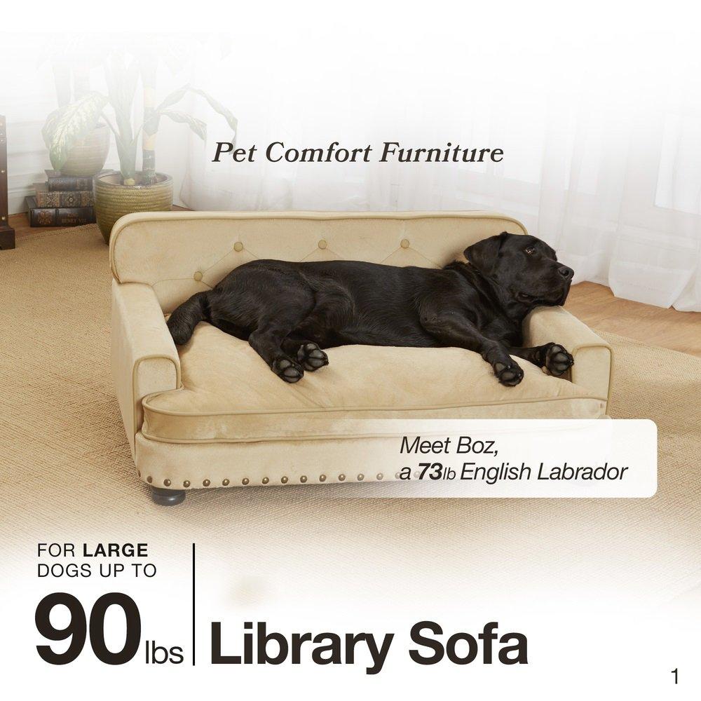 Amazon.com: Enchanted Home Pet Ultra Plush Library Pet Sofa: Pet Supplies