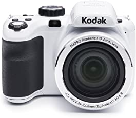 "Kodak PIXPRO Astro Zoom AZ421 16 MP Digital Camera with 42X Opitcal Zoom and 3"" LCD Screen (White)"