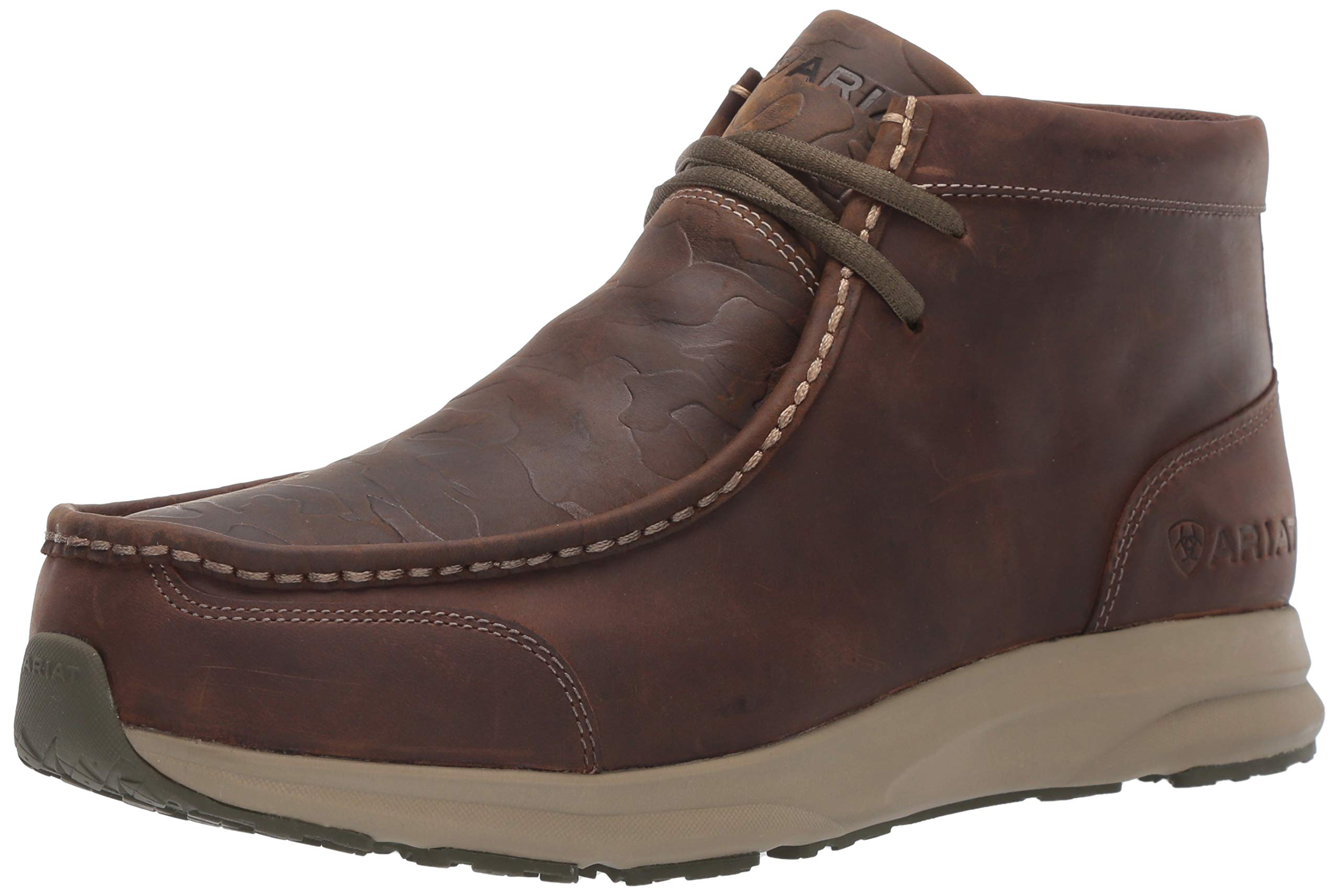 Ariat Men's Spitfire Western Boot, Distressed Brown/camo Embossed, 7.5D