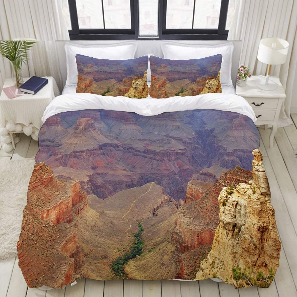 Sionoly Bedding Duvet Cover Set Sunset Trees Rocks River Canyon Arizona Landscape Dusk Nature Multicolor Quilt Cover Pillowcase Sets Single Szie 135 200cm Amazon Co Uk Kitchen Home