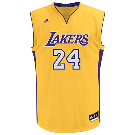 dfd4a371ffc3 Amazon.com   NBA Los Angeles Lakers Youth Kobe Bryant Home Replica Jersey  (Gold