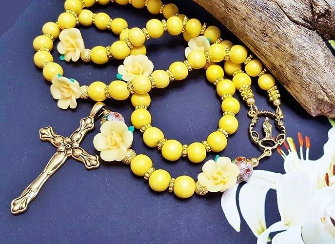Amazon handmade rosary easter gift for her mindfulness gift handmade rosary easter gift for her mindfulness gift for women mother in law negle Images