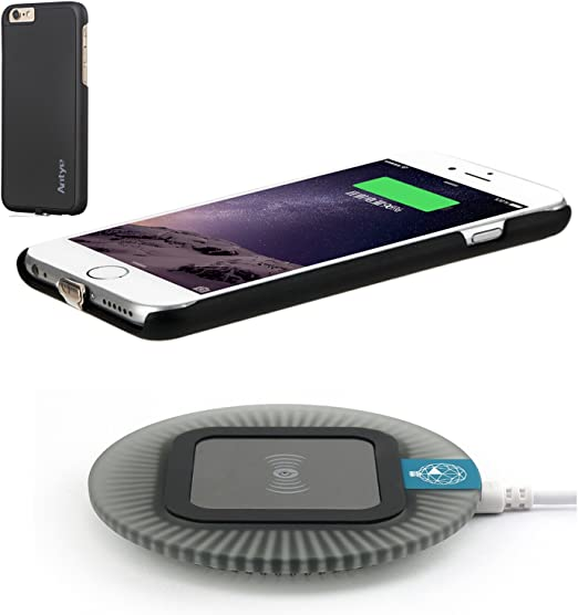 Amazon Com Wireless Charger Kit For Iphone 7 Plus 2 In 1 Wireless Charging Receiver Case And Sleep Friendly Charging Pad For Iphone 7 Plus