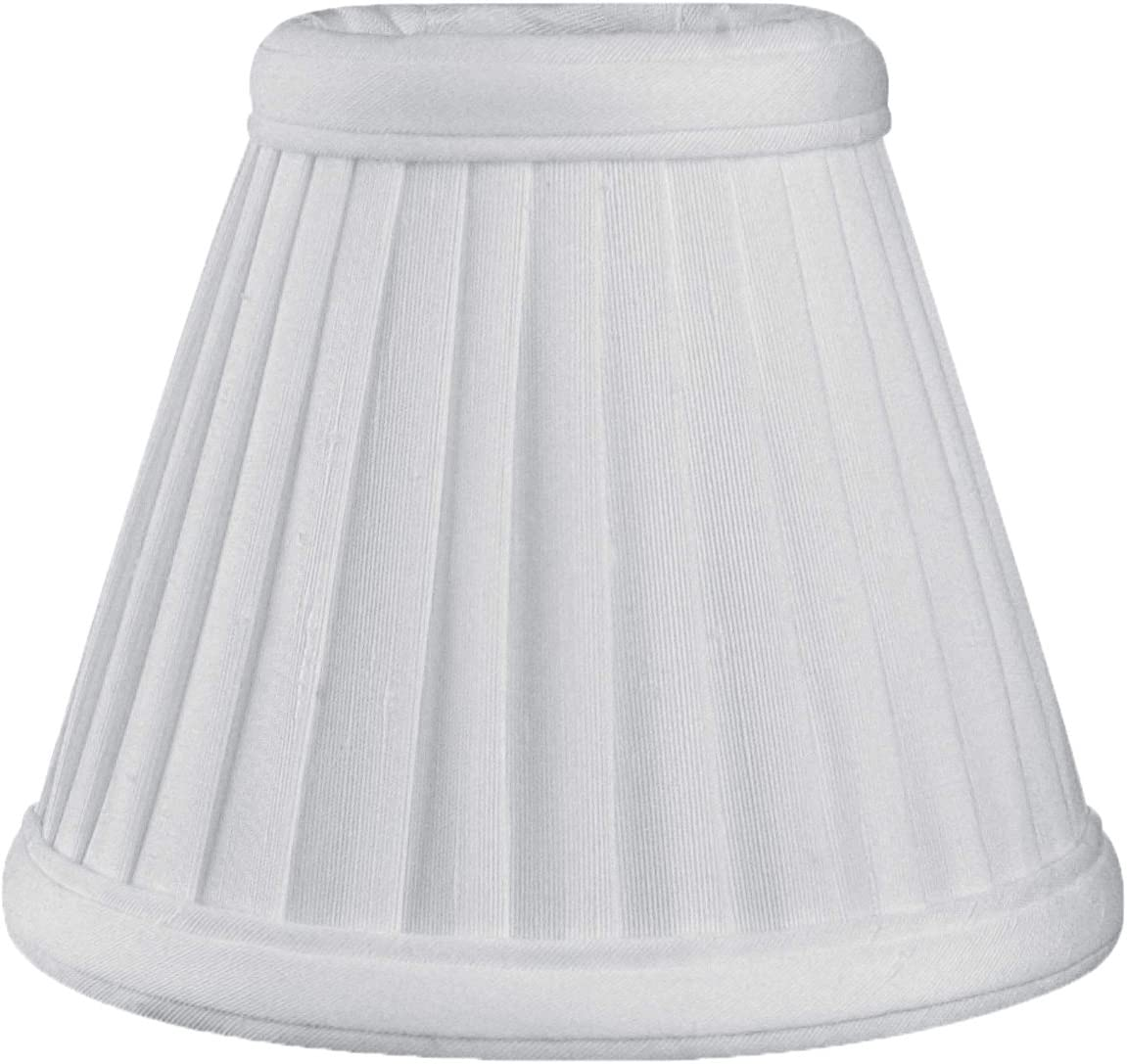 6 Pack Royal Designs Pleated Empire Chandelier Lamp Shade, White Size 5 CS-111WH-6