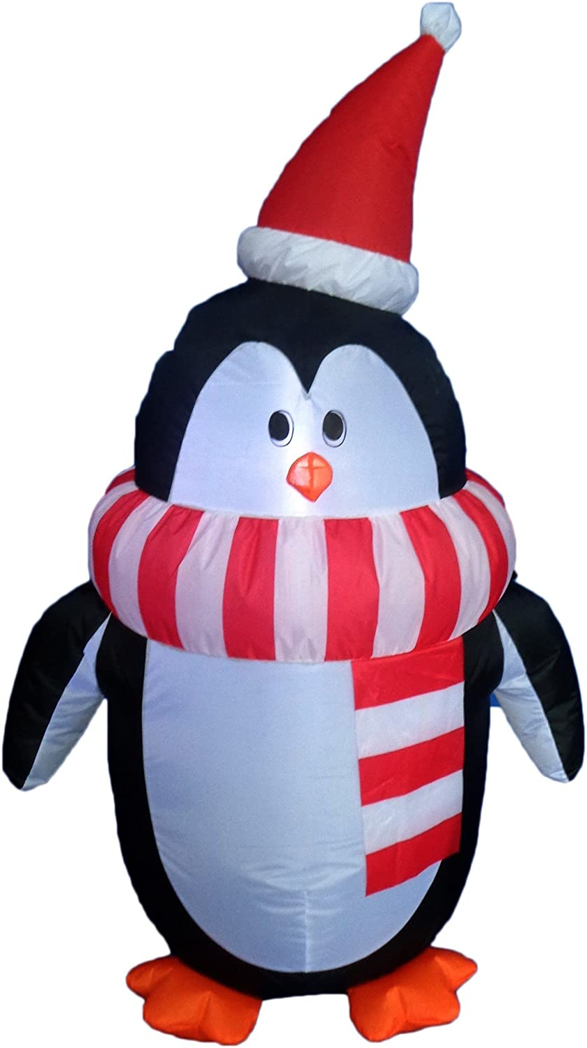 5 Inflatable Penguin Family Lighted Christmas Yard Art Decoration