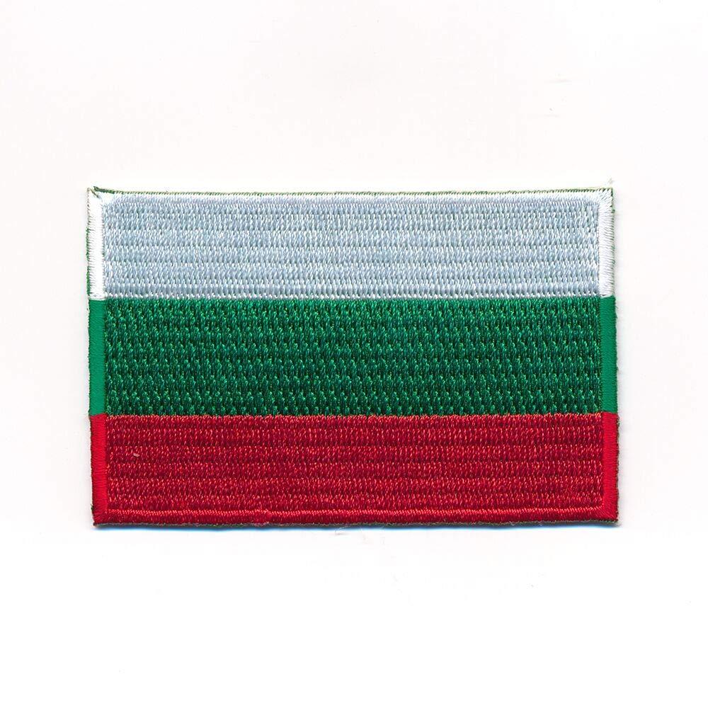 hegibaer 30 x 20 mm Bulgarien Flagge Sofia Europa Flag Patch Aufn/äher Aufb/ügler 1155 Mini