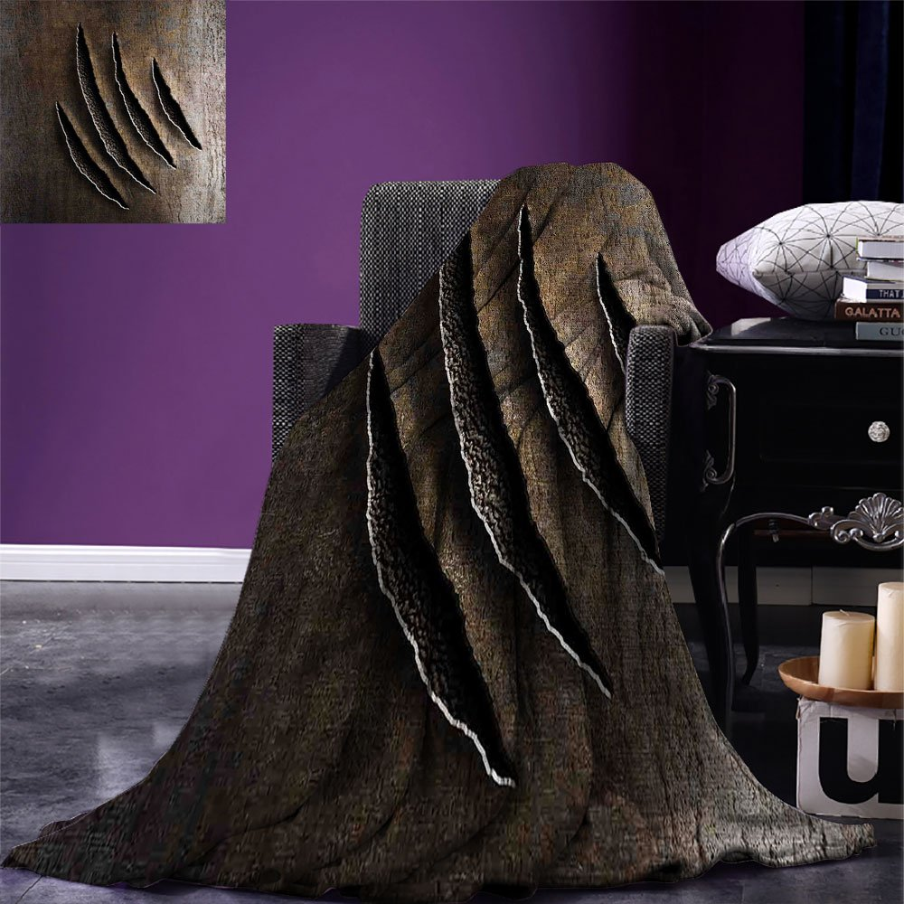 Horror House Throw Blanket Scary Eyes Backgrounded Leafless Old Branch Angry Hunt Cat Animal Creature Warm Microfiber All Season Blanket for Bed Or Couch Yellow Black