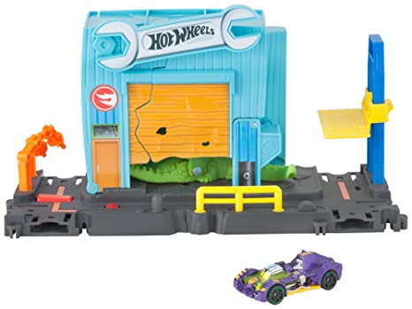 Hot Wheels City Pista de coches Ataque en el taller del cocodrilo (Mattel FNB06)