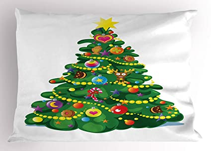 Amazon Com Emiqlandg Christmas Pillow Sham Children Cartoon