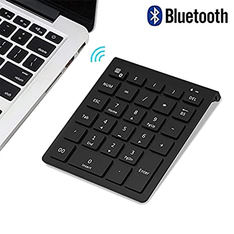 e3ece2ed763 Bluetooth Number Pad, Lekvey Portable Wireless Bluetooth 28-Key Numeric  Keypad Keyboard Extensions for