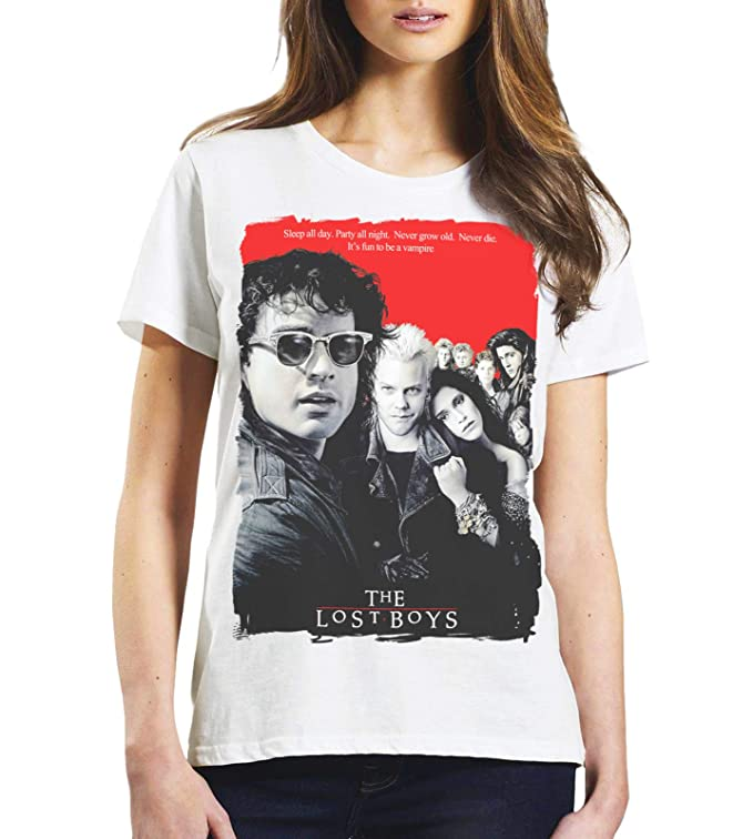 Ladies The Lost Boys 80s Poster T-shirt. Sizes 8 to 20