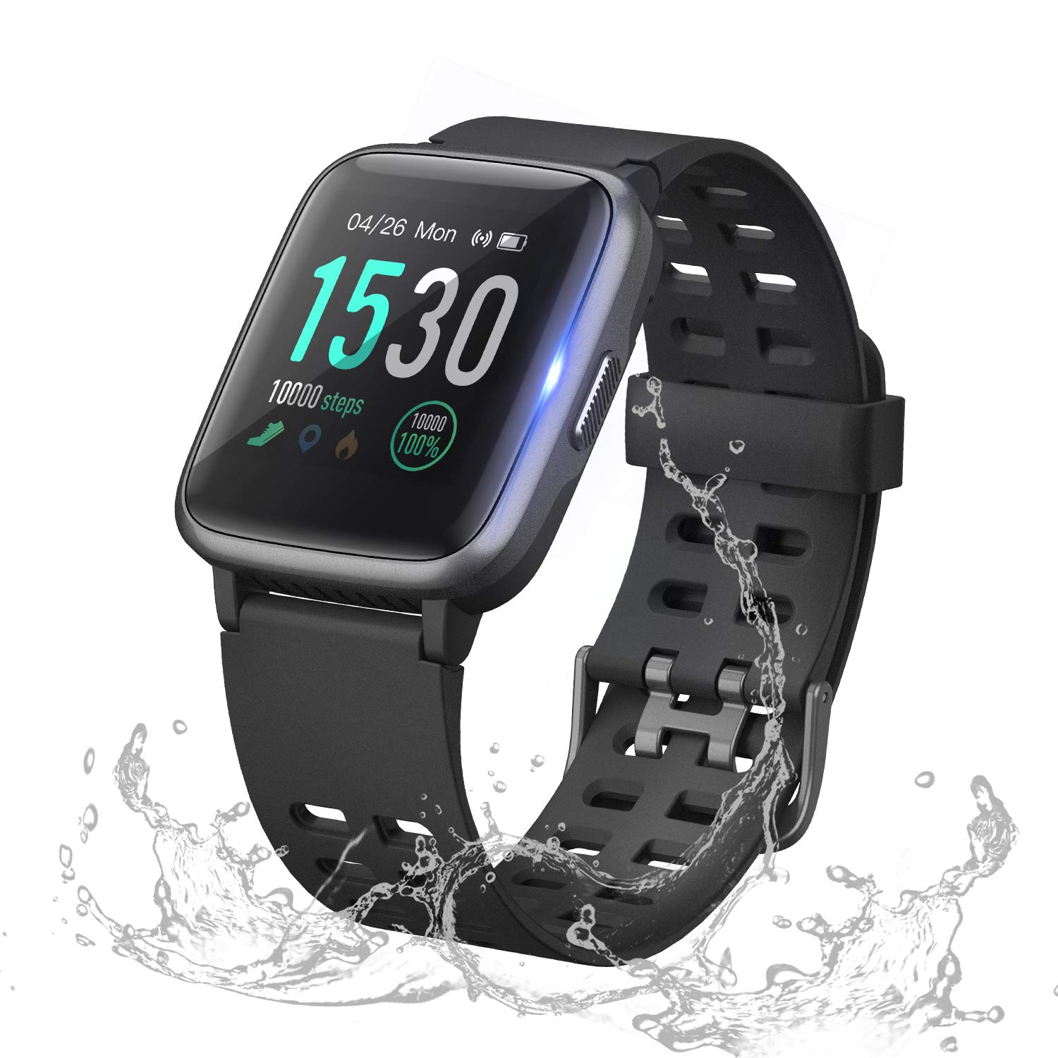 ANGGO Upgraded Fitness Tracker HR, IP68 Waterproof Activity Tracker Smart Watch Bluetooth Smartwatch with Heart Rate Monitor Step Calorie Counter ...