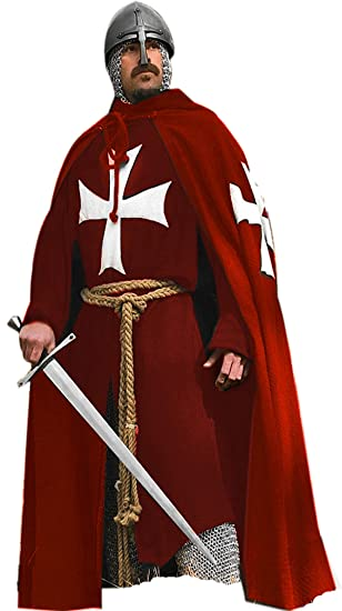 Image result for red cloak white cross
