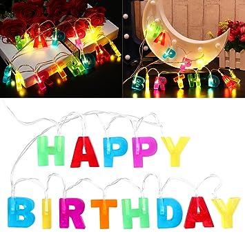 LEDMOMO Happy Birthday Lights