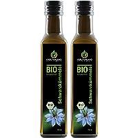 Kräuterland Bio Schwarzkümmelöl, Bio-zertifiziert, 2x 250ml, gefiltert, kaltgepresst, ägyptisch, 100% naturrein, vegan, Frischegarantie: täglich mühlenfrisch direkt vom Hersteller Kräuterland